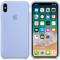 Silicone case Iphone X,XS , лиловый,light lilac Мягкий чехол