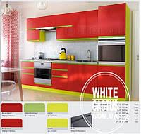 Кухня КС с крашенными фасадами МДФ с интегрированной ручкой