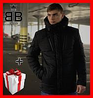 Куртка зимняя мужская Everest Intruder с капюшоном, стильный пуховик черный