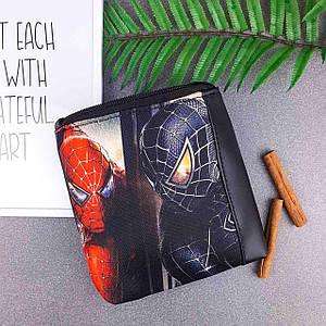 Черная сумка для мальчика Mini Mister с принтом Человек Паук