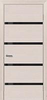 Двері міжкімнатні (дубовий шпон фарбований) Монреаль зі склом Лакобель