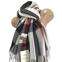 Женский шерстяной шарф Sky Cashmere Burberry Серый