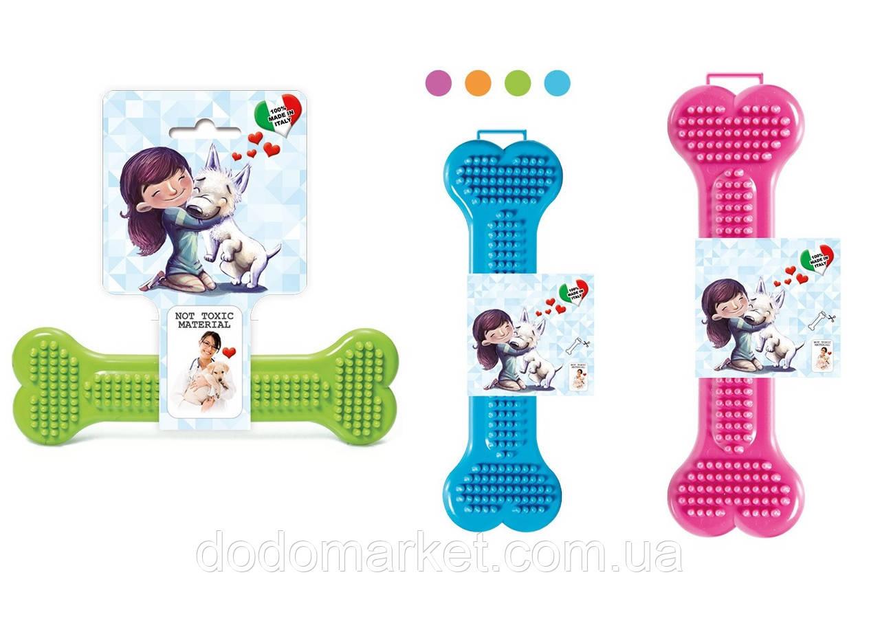 Игрушка для собак и щенков резиновая кость GeoBone №3 Италия