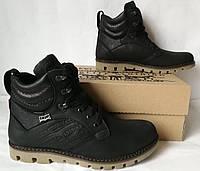 Качественные берцы в стиле Levis сапоги жесть!) Стильные мужские зимние ботинки, фото 1