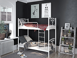 Кровать металлическая Жасмин (2 яруса) Тенеро 80х190(200)