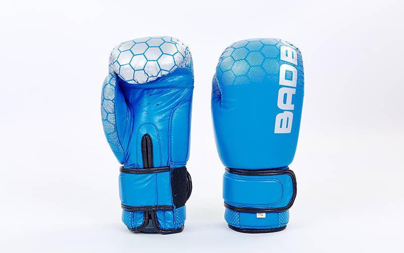 Перчатки боксерские кожаные на липучке BAD BOY MA-5434