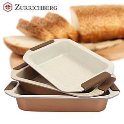 Набор из 3 керамических форм для запекания Zurrichberg ZBP 7113 с силиконовыми ручками
