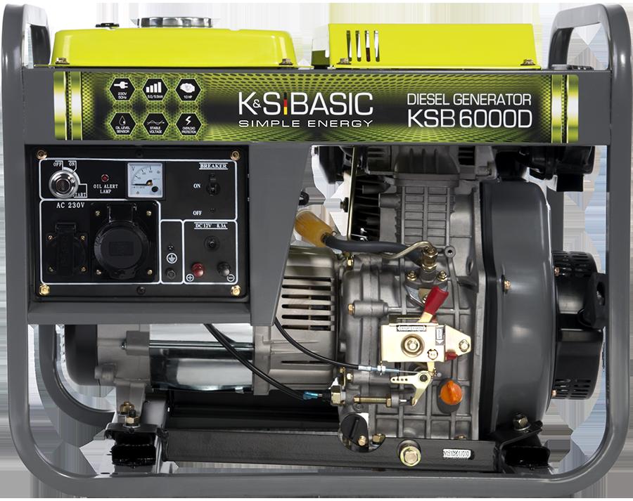Однофазный дизельный генератор Könner & Söhnen KSB 6000D (5.5 кВт)