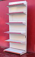 Торгові односторонні (пристінні) стелажі «Eden» 230х97 див., на 6 полиць, Б/в, фото 1
