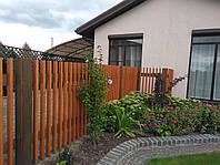 Деревянный забор плетенка, фото 1
