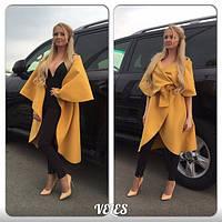 Пальто женское ,очень стильное , ткань кашемир , с поясом, цвет только такой АВел № 019-048