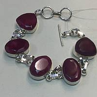 Рубин красивый браслет с рубином в серебре Индия, фото 1