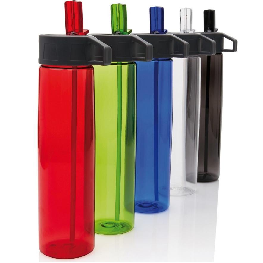 Спортивная бутылка 750 мл для воды с трубочкой Loooqs Tritan