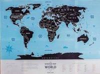 Скретч карта світу «Travel Map Silver World» (тубус)