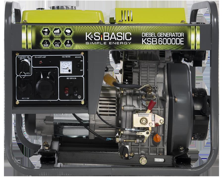 Однофазный дизельный генератор Könner & Söhnen KSB 6000DE (5.5 кВт)