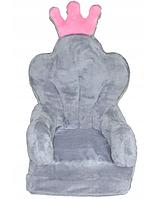 Детское мягкое кресло PUFA SEAT серое