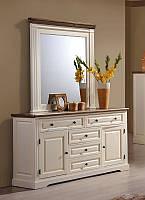 Будуарный стол + зеркало Калифорния (Domini ТМ)