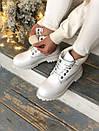 Женские кожаные белые ботинки Timberland, фото 5