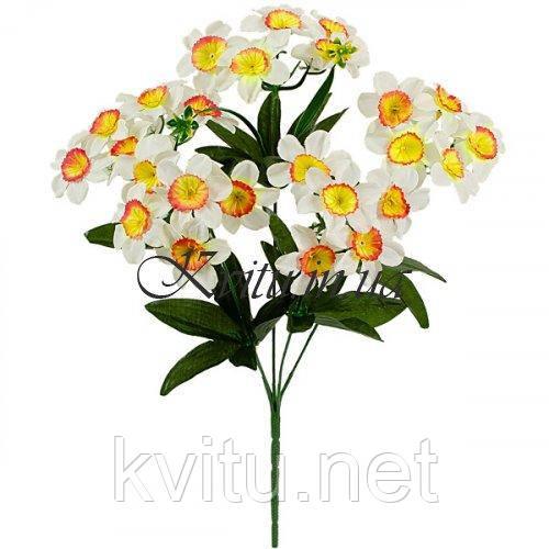 Искусственные цветы букет нарциссов, 38см