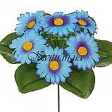 Искусственные цветы букет заливка ромашки цветные, 21см, фото 2