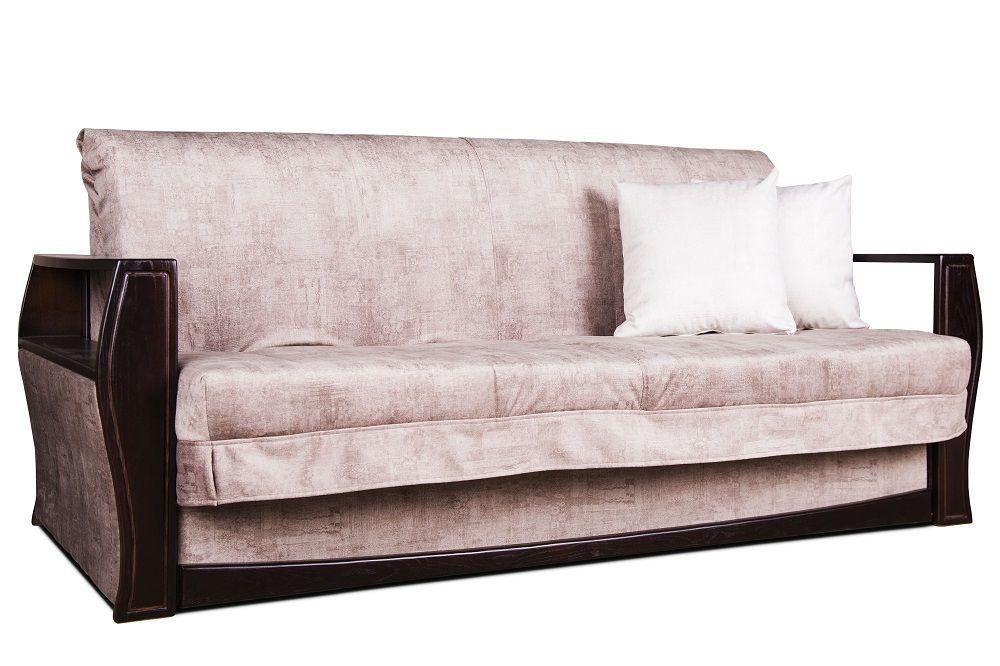 Прямой бежевый диван вперед аккордеон Варшава от 0,7 м до 2 м для ежедневного сна Константа