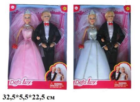 Кукла DEFA 29см 8305 невеста с женихом 2в.кор.22,5*5,5*32,5 ш.к./24/, фото 2