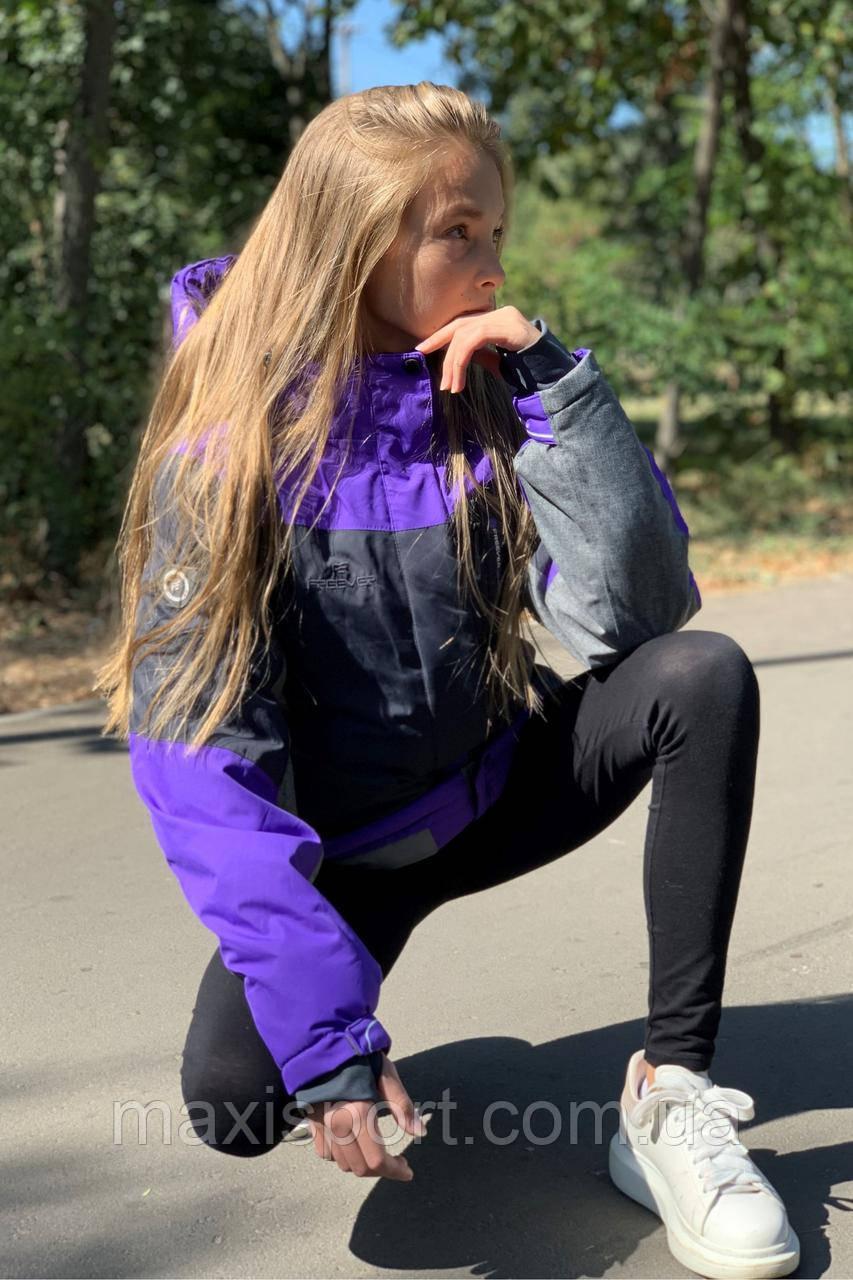 Детская лыжная куртка для девочки Freever (11672) Фиолетовый, 134