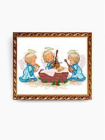 Схема для вышивки бисером С рождением мальчика