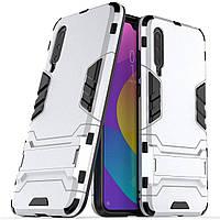 Чехол Iron для Xiaomi Mi 9 Lite бампер противоударный оригинальный Silver