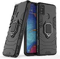 Чехол Iron Ring для Samsung Galaxy M30s / M307F бронированный бампер Броня Black, фото 1