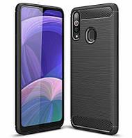 Чехол Carbon для Samsung Galaxy A20s / A207F бампер оригинальный Black, фото 1
