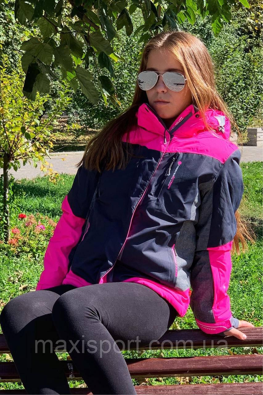 Детская лыжная куртка для девочки Freever (11672) Розовый, 134