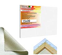 Холст на подрамнике Factura BelleArti 15х20 см Итальянский хлопок 285 грамм кв.м. среднее зерно белый