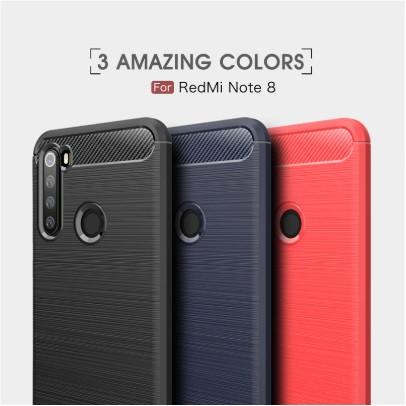 Чехол Carbon для XIaomi Redmi Note 8 (3 Цвета)