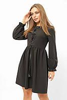 Женское платье с имитацией корсета Lipar Черное