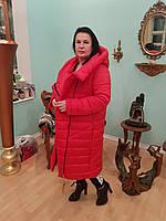 Женское, модное, зимнее удлиненное пальто - одеяло большого размера р- 46,48,50,52, 54, 56, 58, 60, 62, 64, 66
