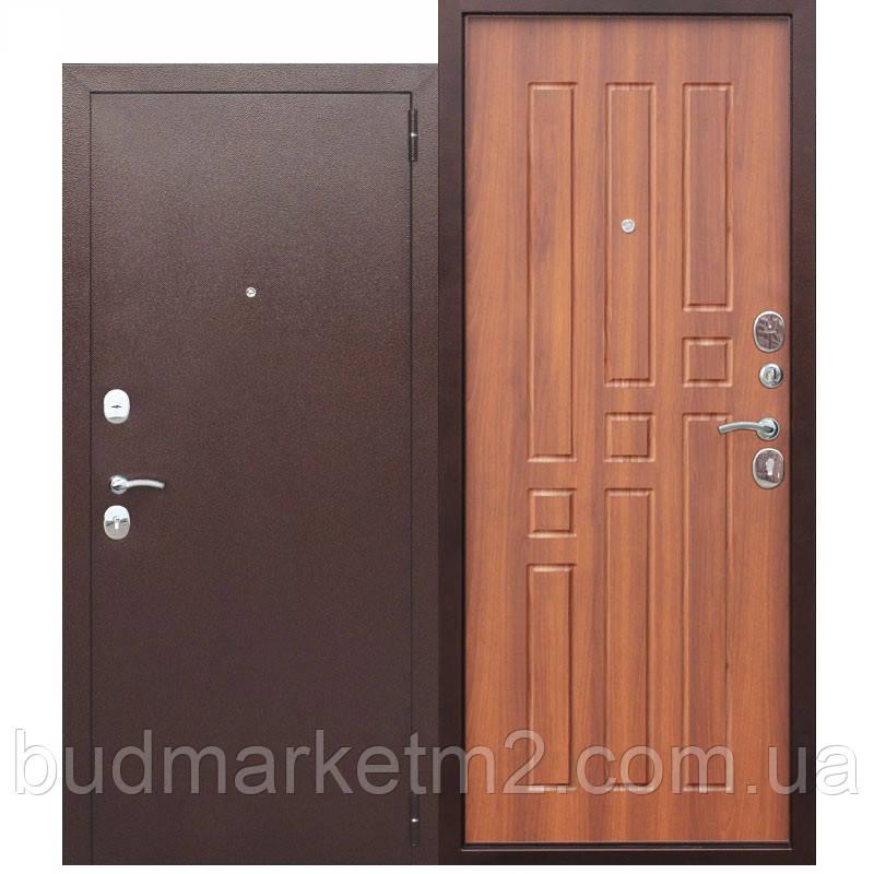 Входная дверь Гарда 8 мм Медный Антик/Рустикальный дуб