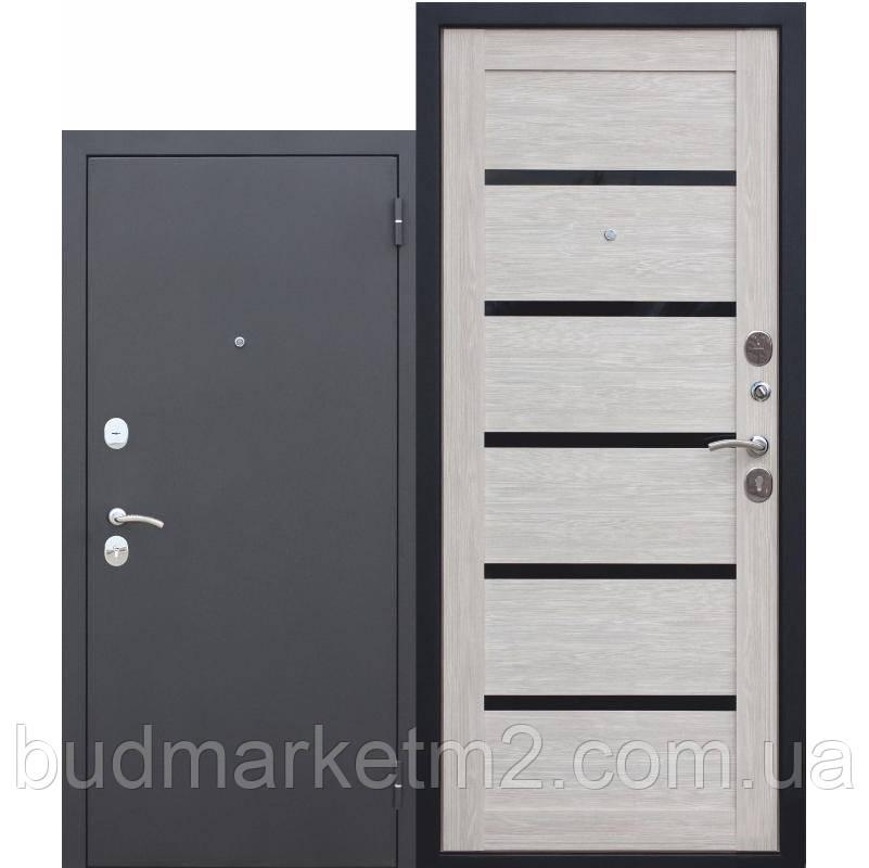 Входная дверь Гарда Муар/Лиственница мокко Царга