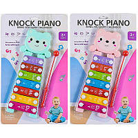 "Ксилофон 668-62 ""Мишка"" 2 цвета на планшете"
