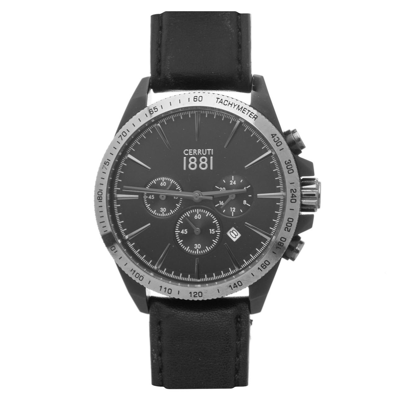Чоловічий годинник Cerruti 1881 Black Leather Б/У