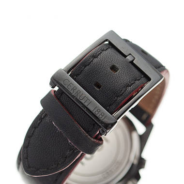 Чоловічий годинник Cerruti 1881 Black Leather Б/У, фото 3