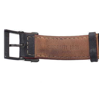 Чоловічий годинник Cerruti 1881 Black Leather Б/У, фото 2