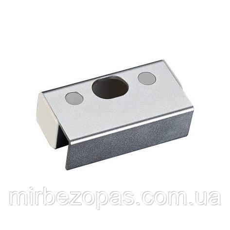 Ответная алюминиевая планка BBK-601 с креплением на стеклянную дверь без рамы для замков серии YB-100/200, фото 2