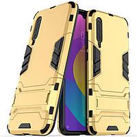 Чехол Iron для Xiaomi Mi 9 Lite бампер противоударный оригинальный Gold