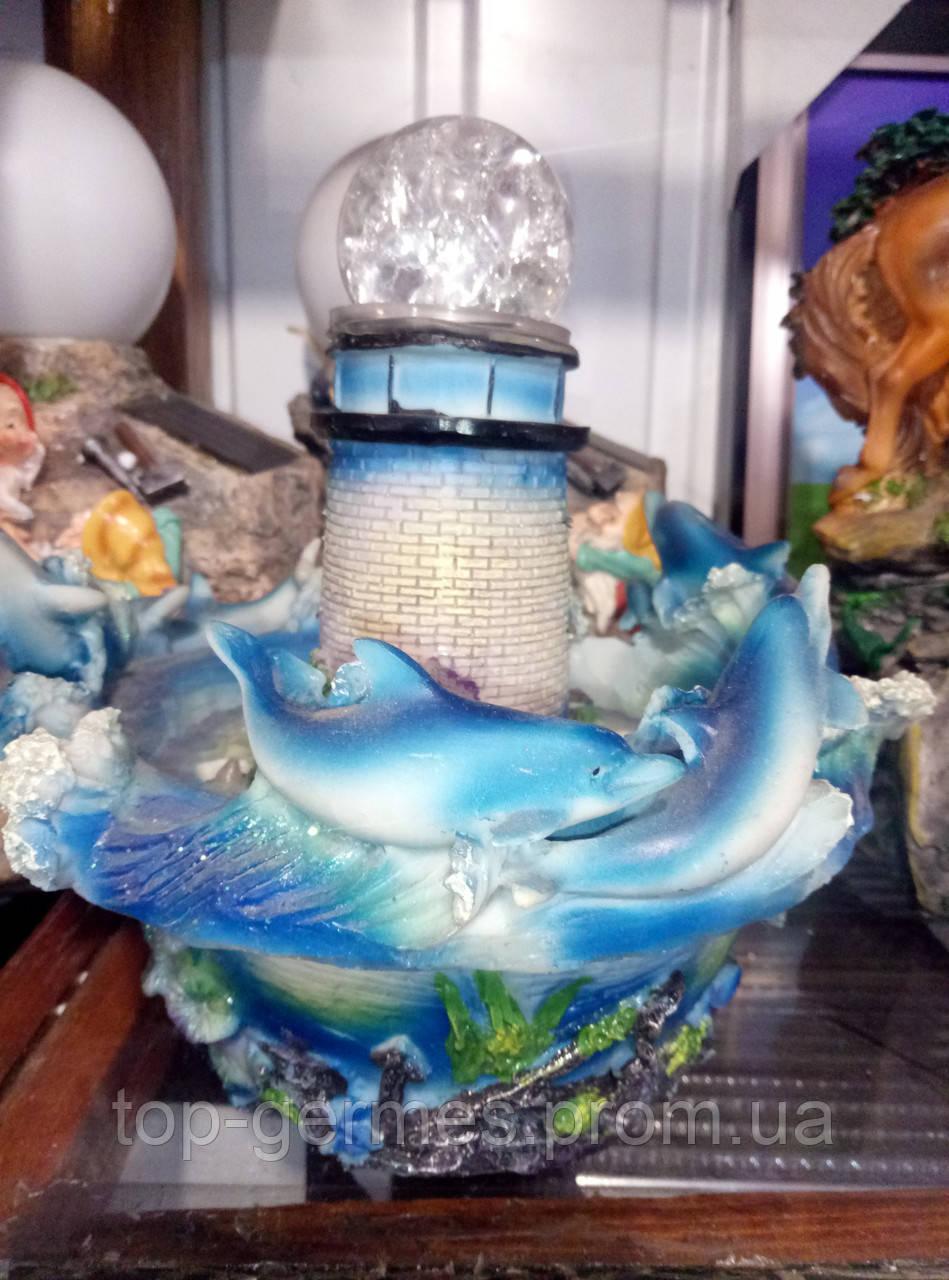 Декоративный фонтан маяк с подсветкой