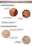 Стіл письмовий однотумбовий (бюджет), фото 3