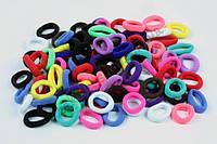 Цветная бесшовная резинка микрофибра для волос, материал: нейлон, диаметр: 2.4 см, ширина: 6 мм, 100 штук
