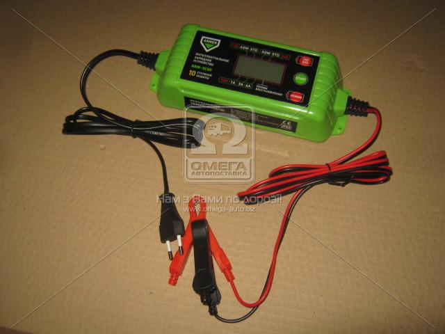Зарядное устройство 6А, 12/24V микропроц., 10-ступ. зарядки, ф-ция восстановления ARMER ARM-SC6E
