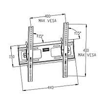 Наклонный кронштейн для телевизора (VESA 400/40кг) КБ-907ST 16205, фото 3