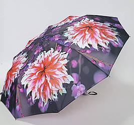 Женский зонт с большими яркими  цветами